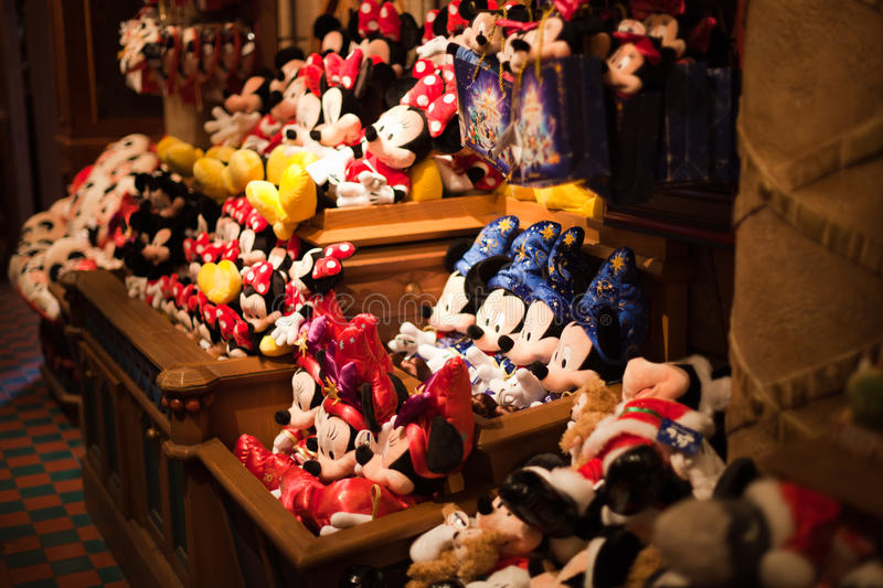 Brinquedos de Minnie e de Mickey Mouse foto de stock royalty free