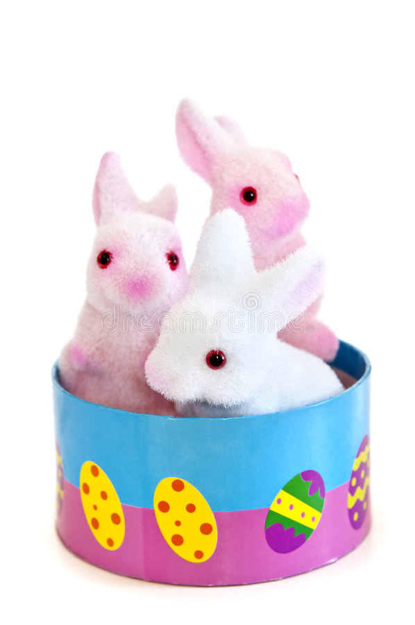 Brinquedos do coelho de Easter foto de stock