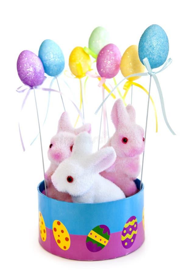 Brinquedos do coelho de Easter fotografia de stock