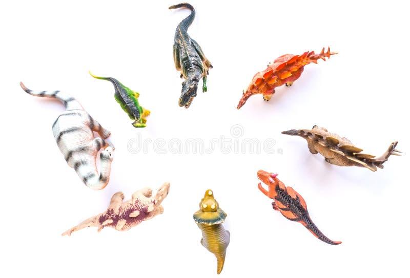 Brinquedos do dinossauro fotografia de stock