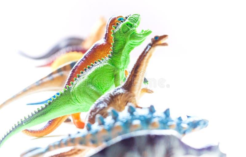 Brinquedos do dinossauro fotos de stock
