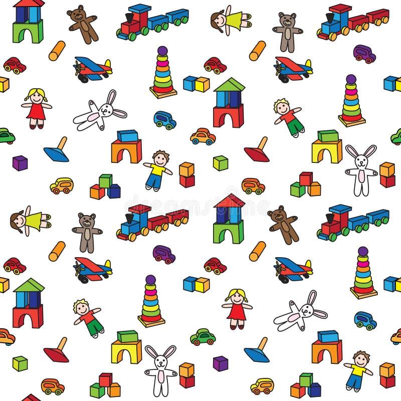 Brinquedos do jardim de infância ilustração do vetor