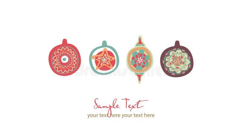 Brinquedos do Natal ilustração royalty free