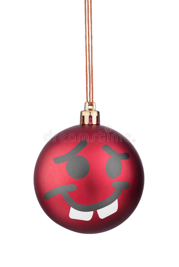 Brinquedos do Natal dos smiley imagens de stock