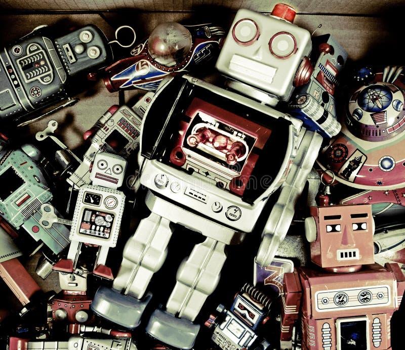 Brinquedos do robô fotos de stock