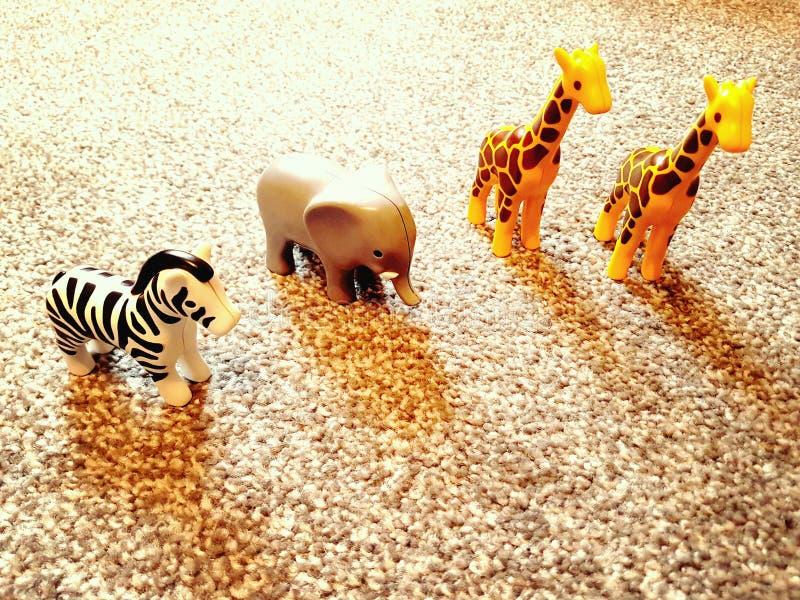 Brinquedos do safari fotografia de stock royalty free