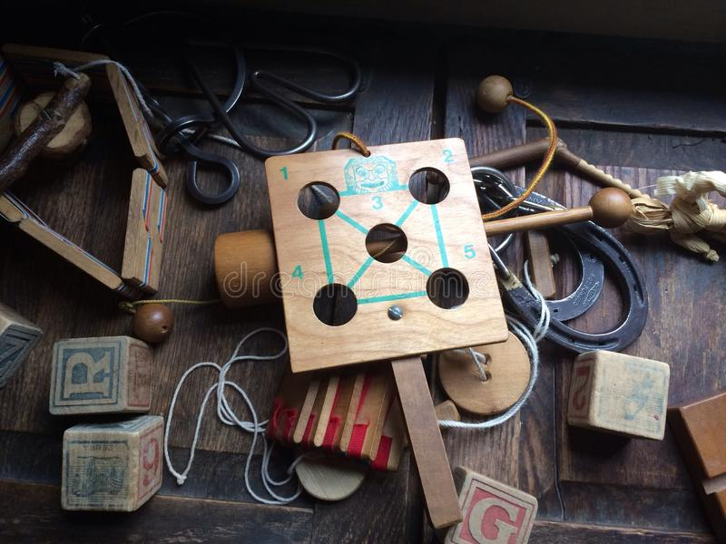Brinquedos do vintage imagens de stock royalty free