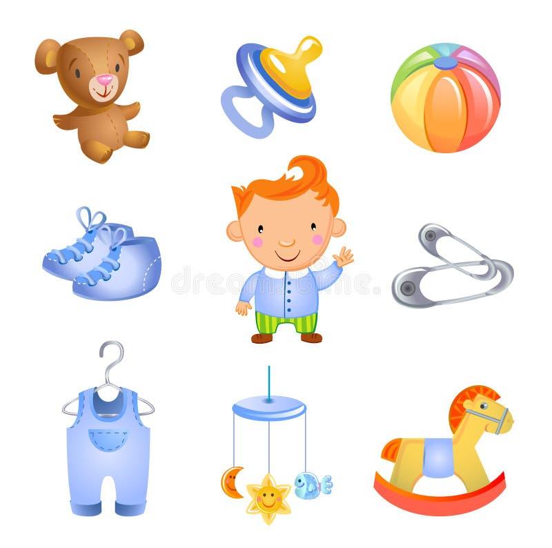 Brinquedos e acessórios ilustração royalty free
