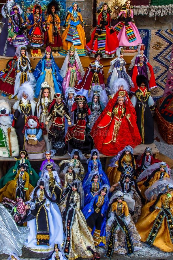 Brinquedos e figuras tradicionais de Georgians como lembran?as imagem de stock