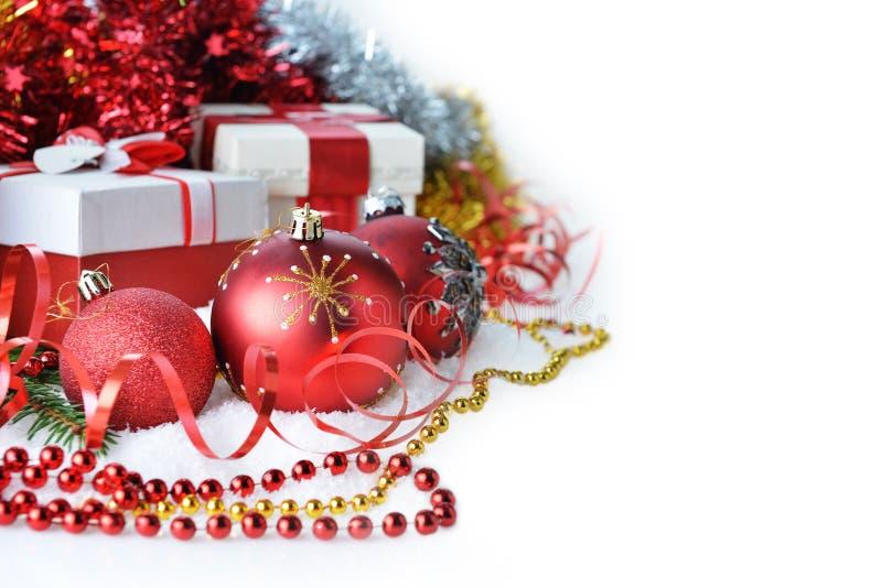 Brinquedos e presentes do Natal fotografia de stock royalty free