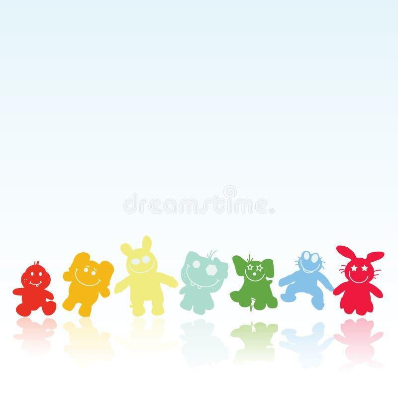 brinquedos engraçados imagem de stock