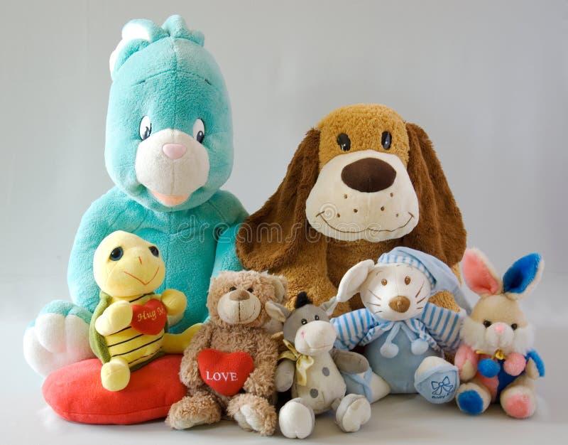 Brinquedos - família alegre fotografia de stock