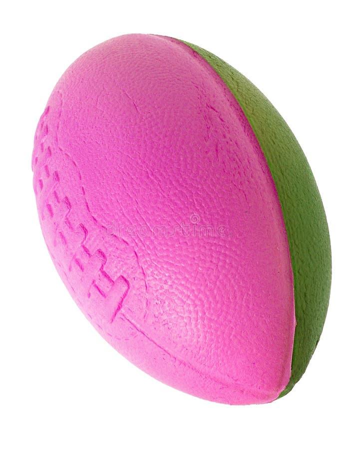 Brinquedos: Futebol da espuma na cor-de-rosa e no verde imagem de stock