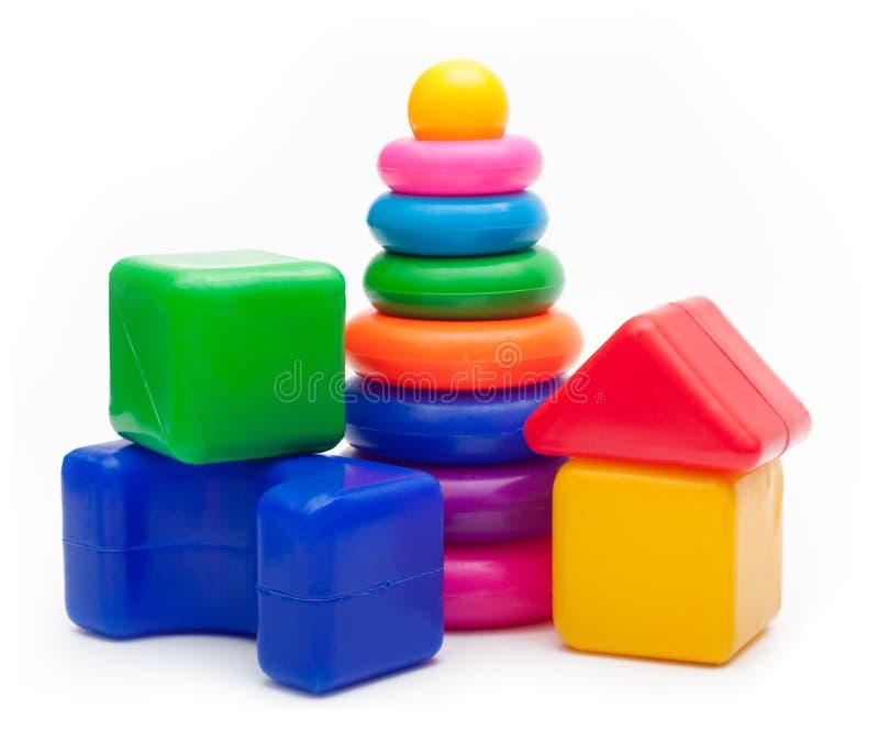 Brinquedos isolados no fundo branco. foto de stock royalty free