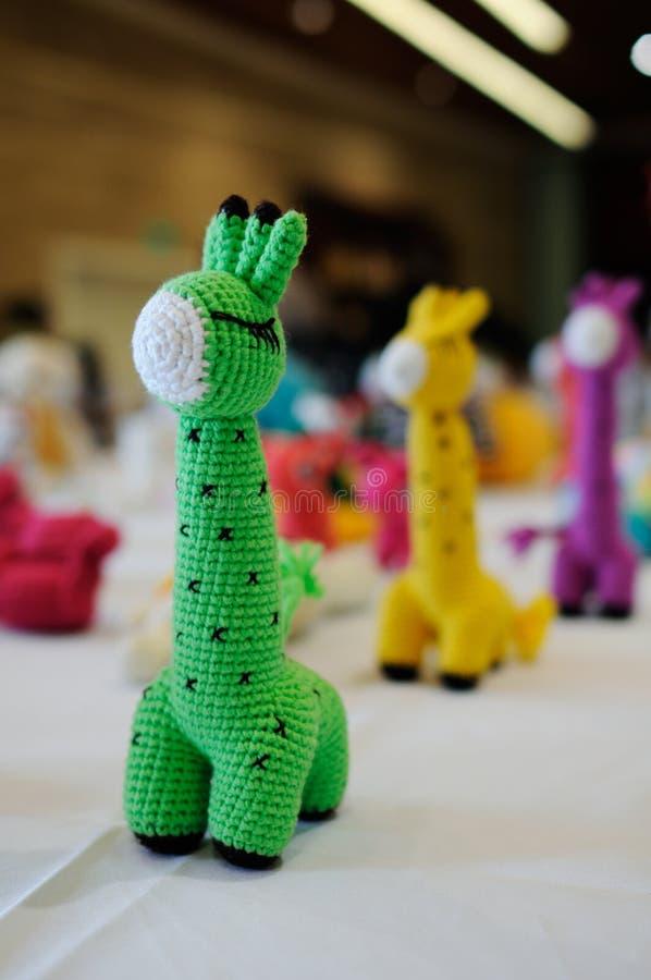 brinquedos Lã-feitos malha foto de stock