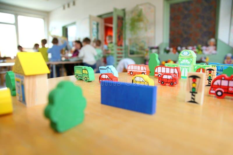 Brinquedos no jardim de infância fotografia de stock