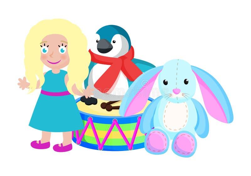 Brinquedos para crianças de Santa Claus Vetora Illustration ilustração do vetor
