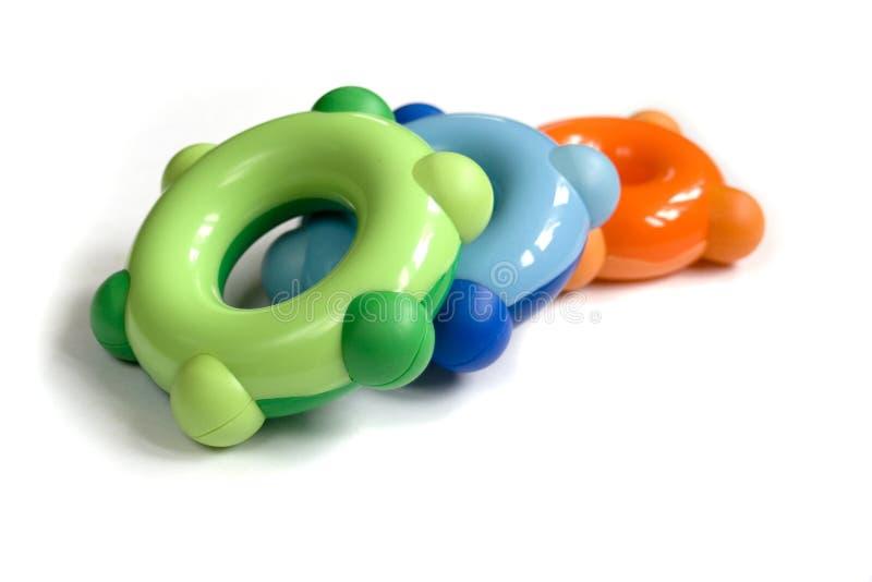 Brinquedos plásticos fotografia de stock