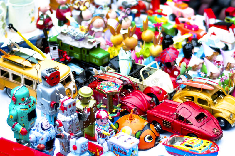 Brinquedos velhos fotografia de stock royalty free
