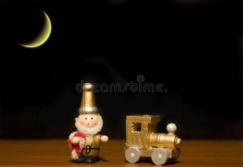 Brinquedos velhos do Natal fotografia de stock