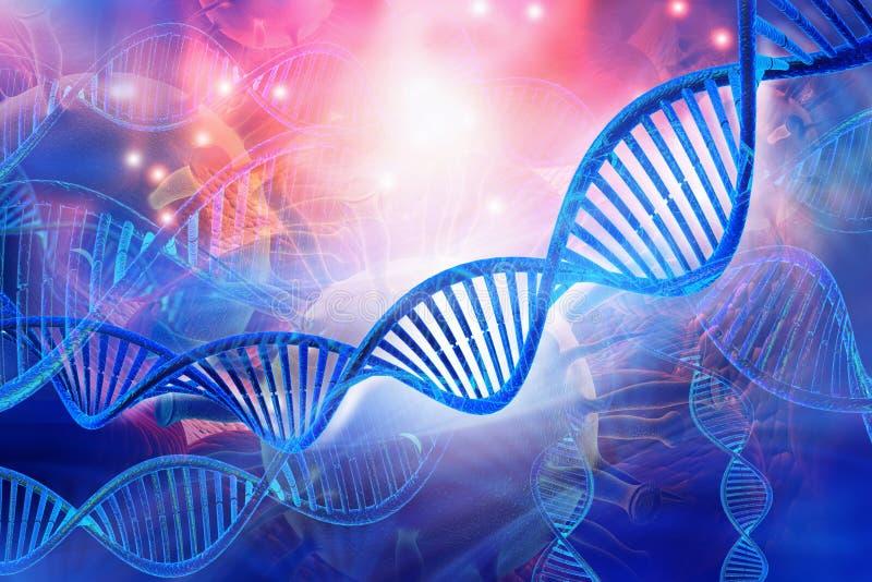 brins d'ADN 3D illustration stock