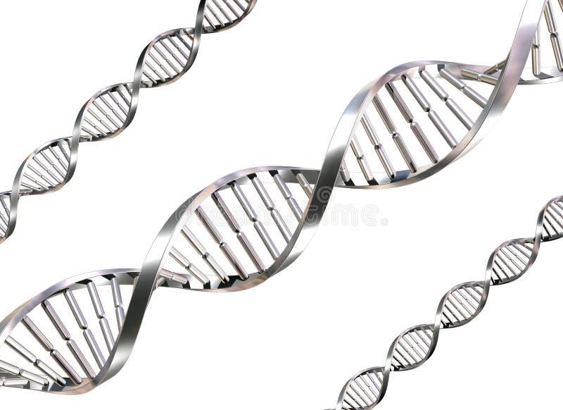 Brins d'isolement d'ADN illustration de vecteur