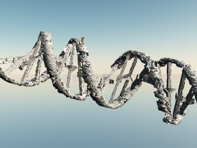 Brins endommagés d'ADN illustration stock