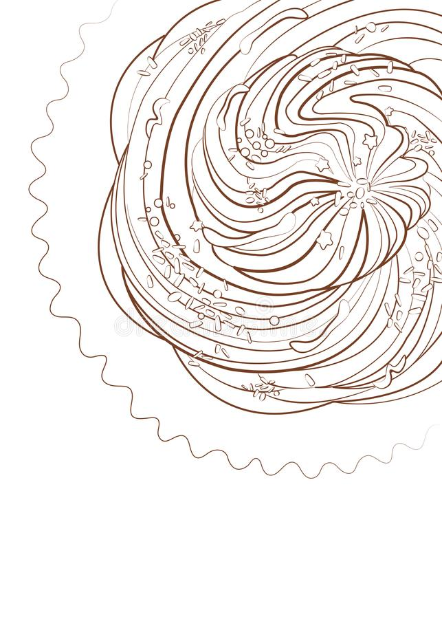 Brioche with decorations- Macro drawing royalty free stock photos