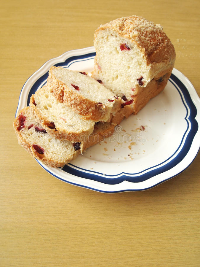 Brioche Pastry Bread With Cranberries Royalty Free Stock Photography
