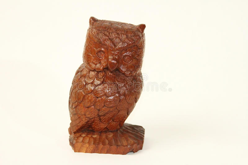 Brown Wooden Owl stock photography
