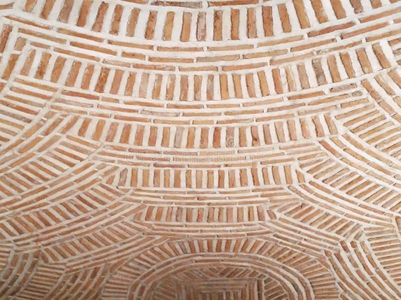 Brique bizantine abstraite de style sur le plafond de crypte photographie stock libre de droits