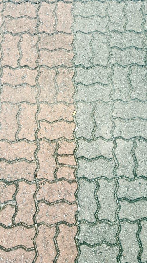 Brique colorée de verrouillage photo libre de droits