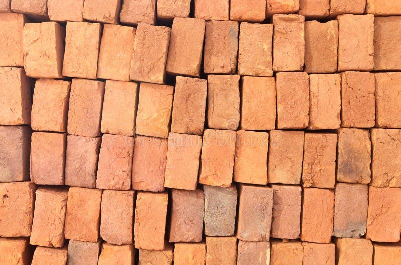 Brique d'argile rouge image libre de droits