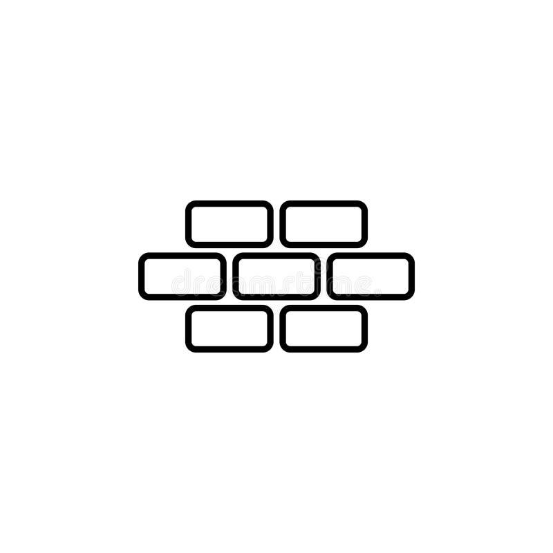 Brique de briques, maçonnerie illustration stock