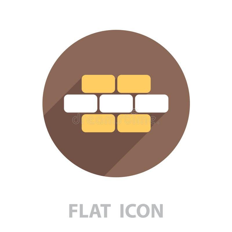 Brique de briques, maçonnerie, icône illustration libre de droits