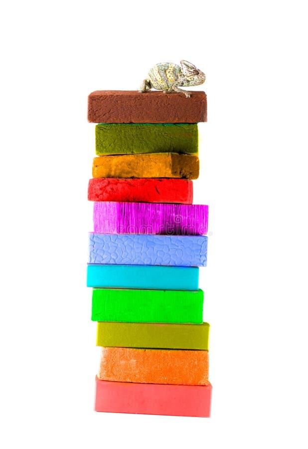 Brique de couleur images stock