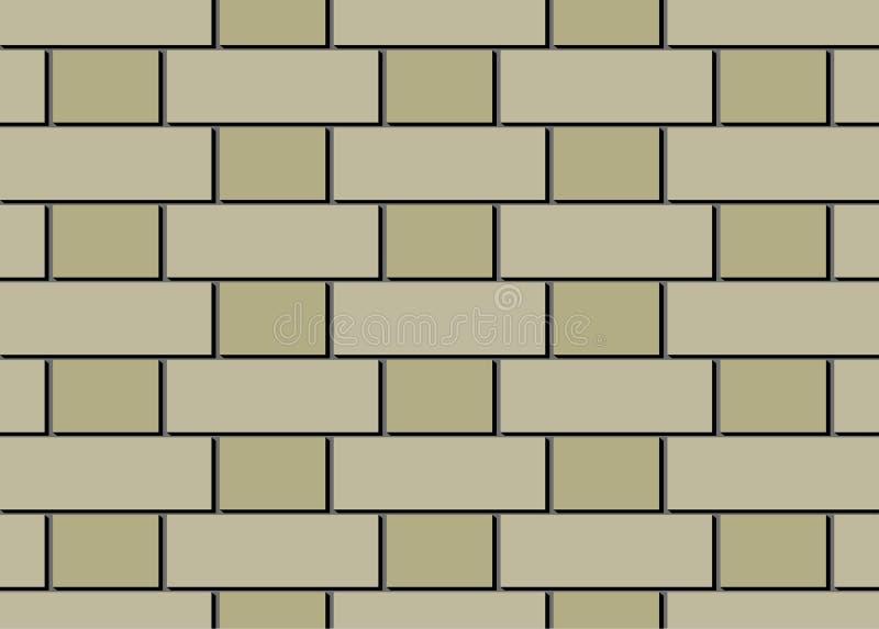 Brique des briques beiges beiges et foncées légères illustration de vecteur