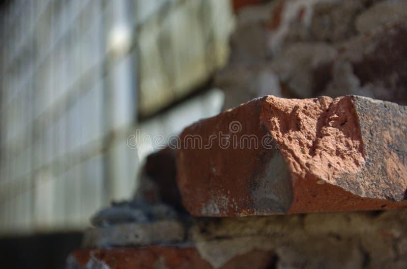 Brique et glace photo libre de droits