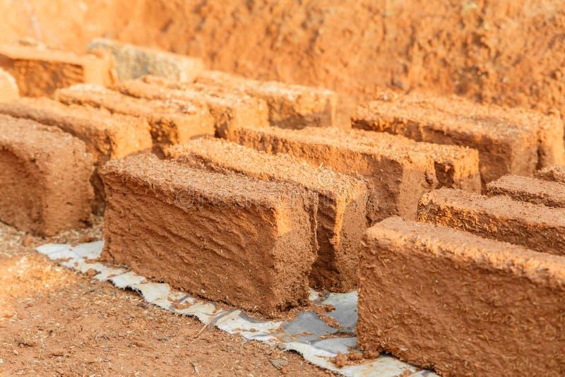 Brique faite main de sol photo stock