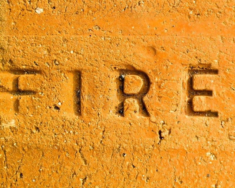 Brique ignifuge photographie stock libre de droits