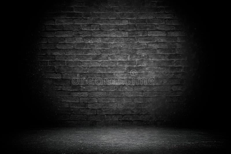 Brique noire abstraite avec le fond de vignette Contexte de studio - utilisation bonne en tant que fond de toile de fond, panneau photo stock