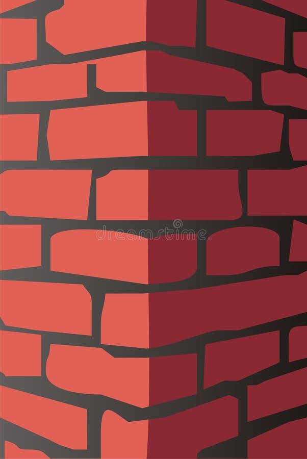 Brique rouge illustration libre de droits