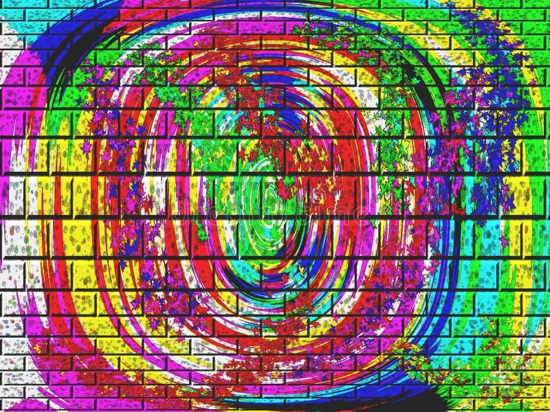Briques abstraites de couleur photos libres de droits
