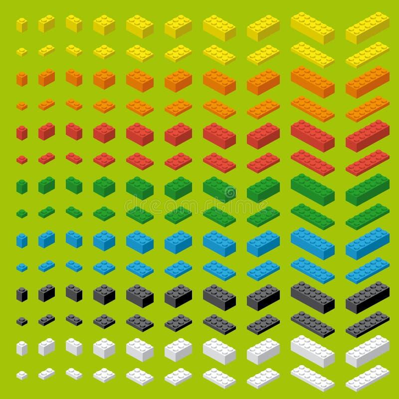 Briques colorées simples de jouet de brique d'enfants illustration libre de droits