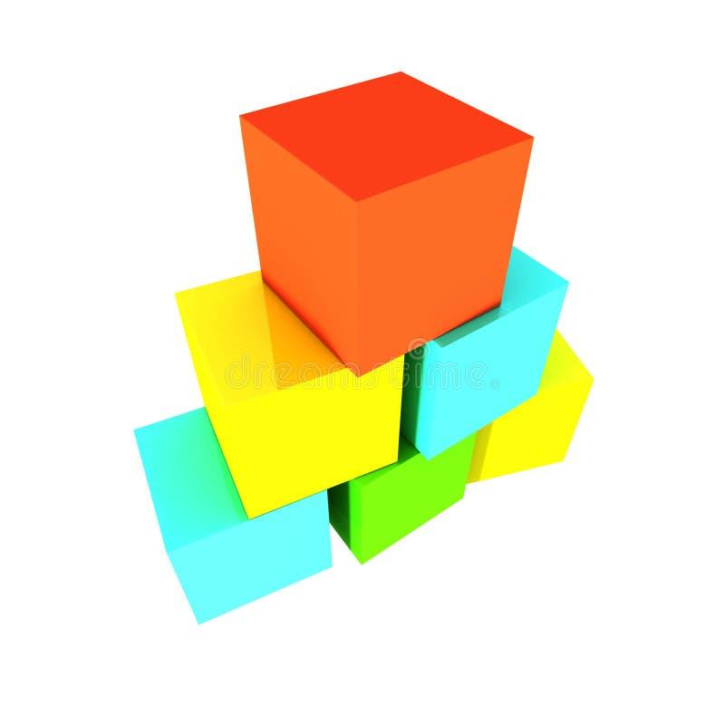 Briques de couleur photo stock