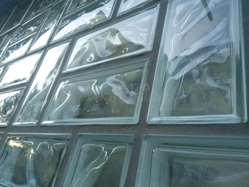 Briques en verre photo libre de droits