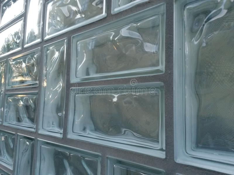 Briques en verre images stock