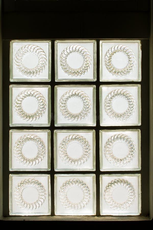 Briques en verre photo stock