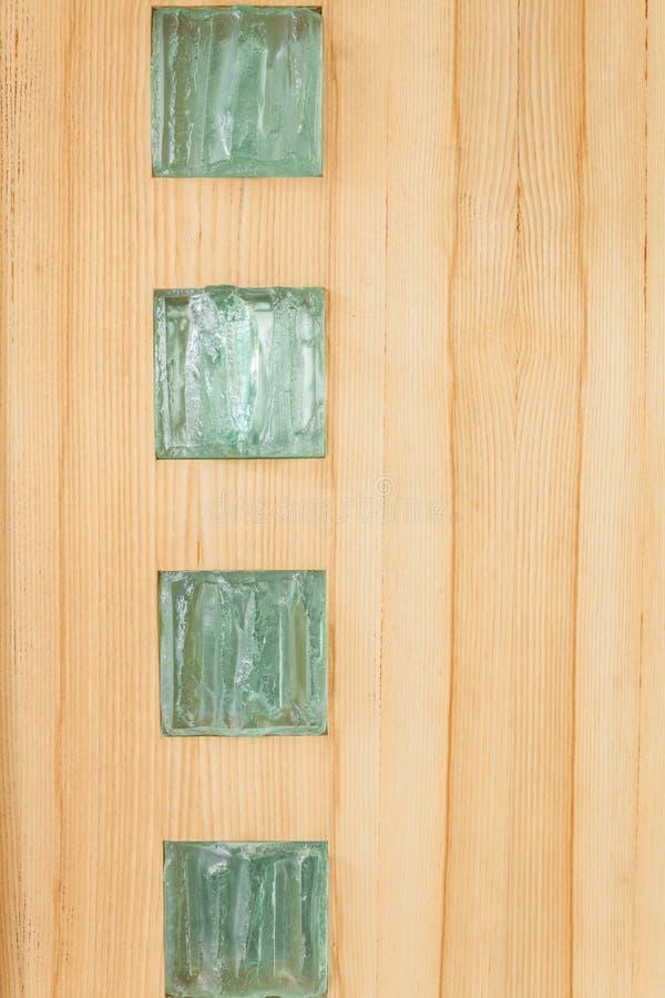 Briques en verre dans le mur photographie stock libre de droits
