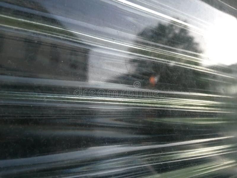 Briques en verre et réflexion détaillée photo libre de droits